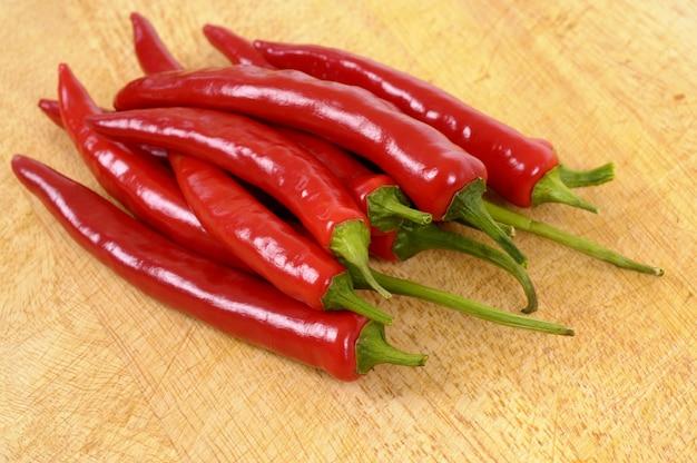 Pimentas de pimentão vermelho