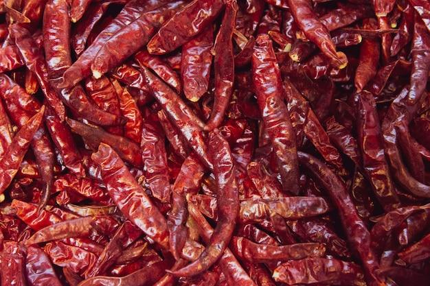 Pimentas secas red hot secas, ingrediente alimentar