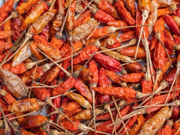 Pimentões secos para cozinhar e também é um produto agrícola exportado