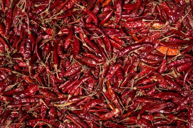 Pimentões vermelhos secos