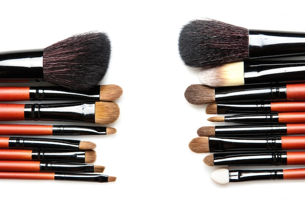 Pincéis de maquiagem profissional com pêlo natural