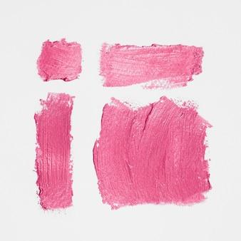 Pincéis de tinta de composição rosa grosso