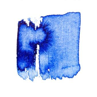 Pincel de aquarela azul