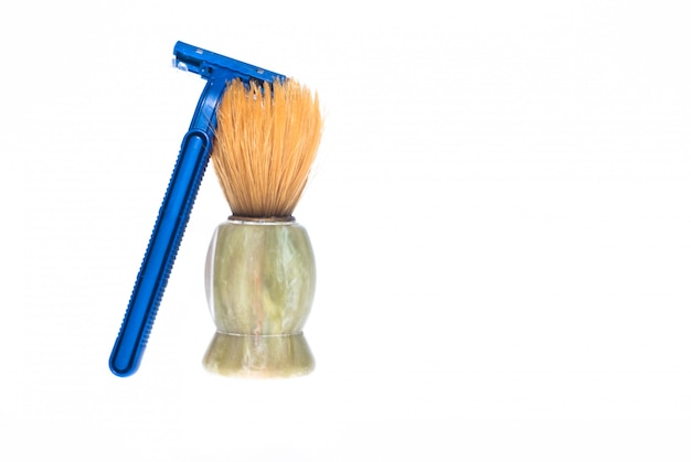 Pincel de barba e navalha