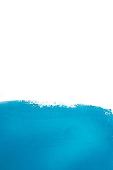 Pincel de pintura de cor azul vívida