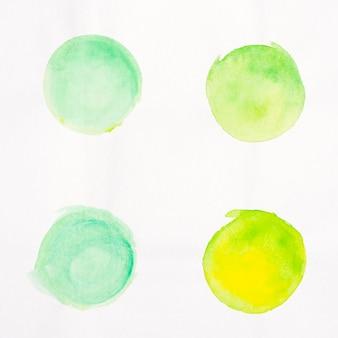Pincel pontos aquarela pintada coleção