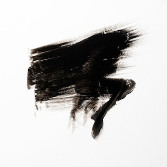 Pincelada de conceito preto arte abstrata
