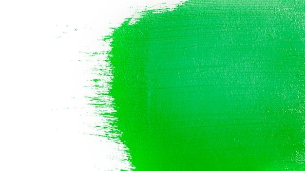 Pincelada de cor verde