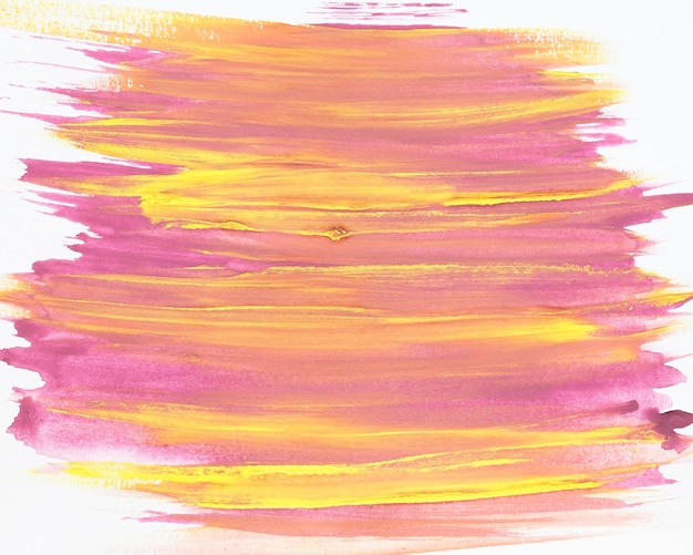 Pincelada de tinta mista