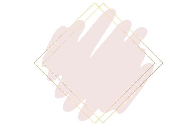 Pincelada em aquarela rosa com moldura dourada luxuosa e glitter