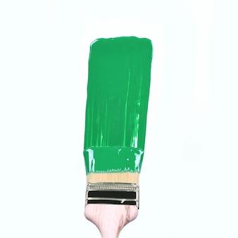 Pincelada verde sobre fundo grunge