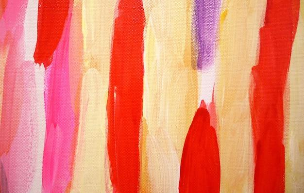 Pinceladas brilhantes abstraem fundo de arte, textura de pincel, fragmento de pintura acrílica sobre tela.