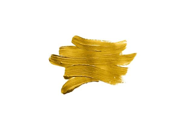 Pinceladas de cor guache dourada