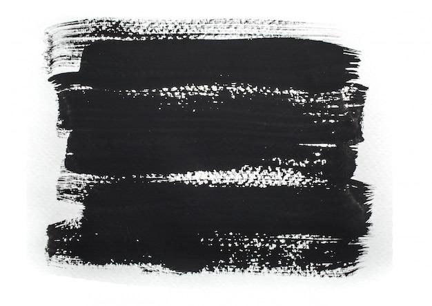 Pinceladas de tinta preta