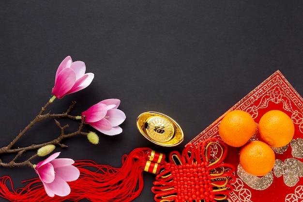 Pingente e magnólia ano novo chinês