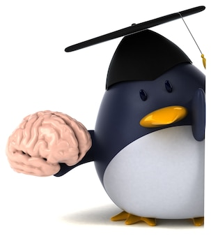 Pinguim divertido - ilustração 3d