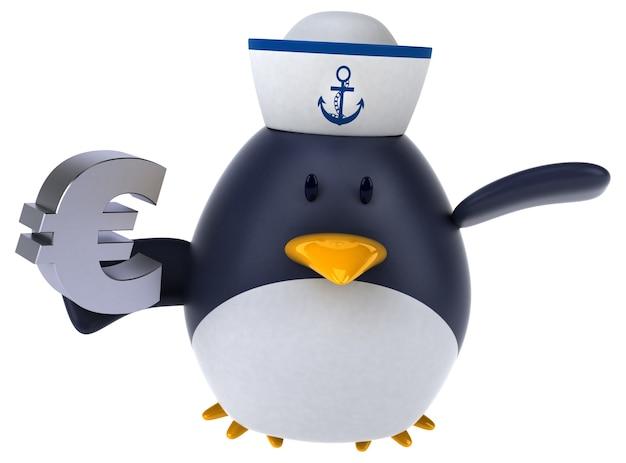 Pinguim divertido - personagem 3d