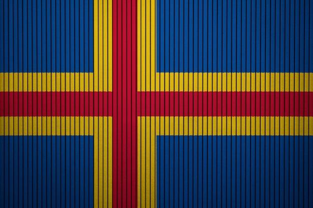 Pintado, bandeira nacional, de, aland, ligado, um, parede concreta