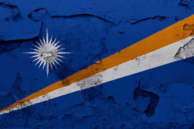 Pintado, bandeira nacional, de, ilhas marshall, ligado, um, concreto, parede