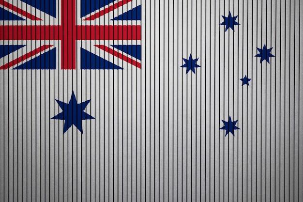Pintado, bandeira nacional, de, naval, alferem, de, austrália, ligado, um, concreto, parede
