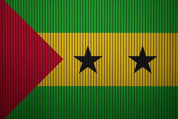 Pintado, bandeira nacional, de, são tomé e príncipe, ligado, um, concreto, parede