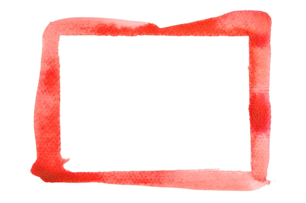 Pinte traços vermelhos com a textura da cor do traçado do pincel com espaço para seu próprio texto