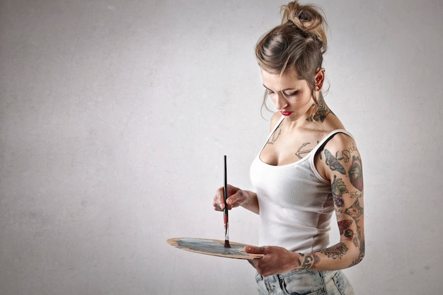 Pintor tatuado