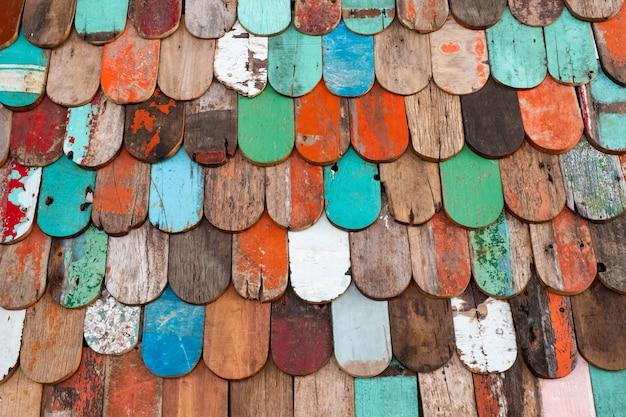 Pintou a madeira velha e fundo de textura de parede de prancha