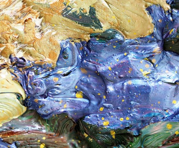 Pintura a óleo abstrata colorida