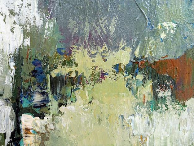 Pintura a óleo da tração da mão fundo bege do sumário da textura do curso da escova da cor na lona.