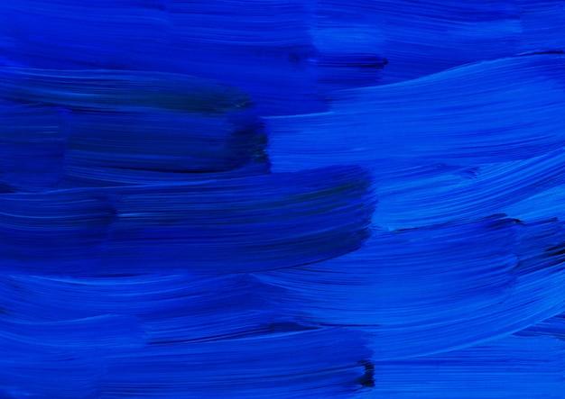 Pintura a óleo de fundo de arte abstrata, textura azul cobalto