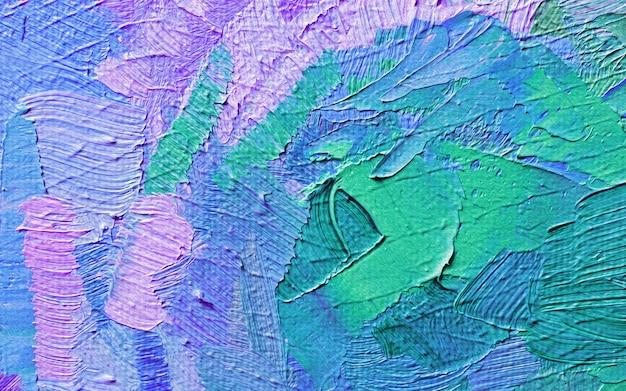 Pintura a óleo desenhada à mão. fundo da arte abstrata. textura de pintura a óleo