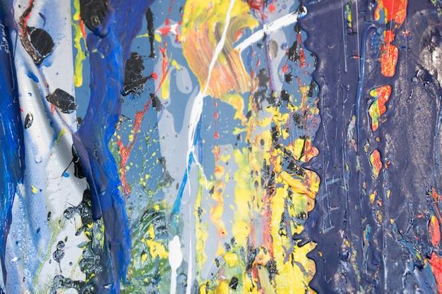 Pintura a óleo original em canvas.art fundo. textura de pintura abstrata. Foto Premium