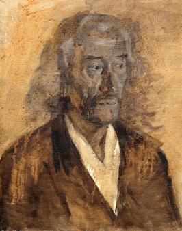 Pintura a óleo, retrato, desenho feito à mão