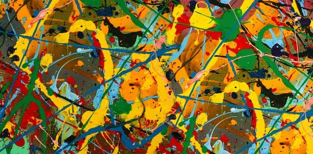 Pintura a óleo sobre fundo abstrato da tela.