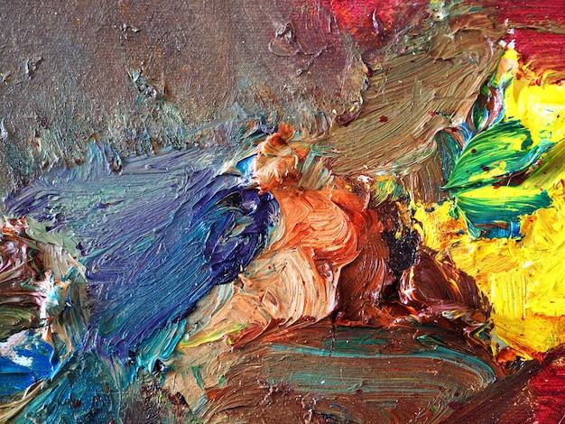 Pintura a óleo sobre tela abstrato.