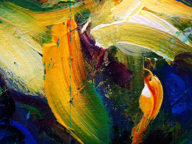 Pintura a óleo tirada mão. pintura a óleo na lona. fundo abstrato.