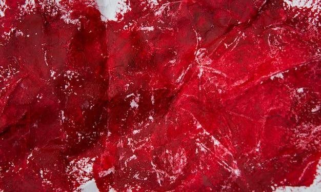 Pintura a óleo vermelha abstrata
