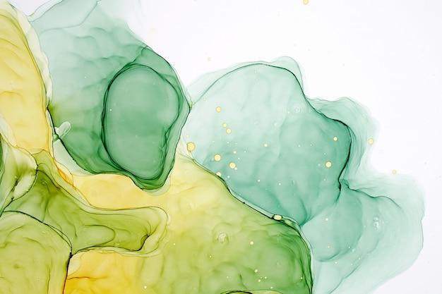 Pintura a tinta abstrata de álcool