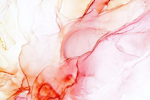 Pintura a tinta álcool abstrata, foto macro