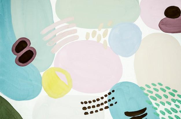 Pintura abstrata colorida pálida
