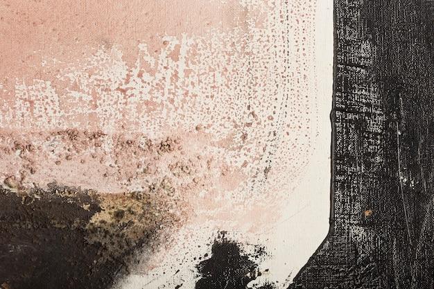 Pintura abstrata com diferentes tons e texturas. técnica mista de pincel e espátula.