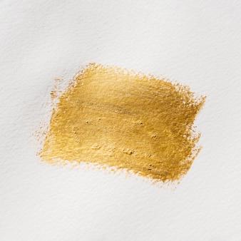 Pintura abstrata de ouro vista superior