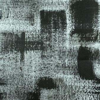 Pintura abstrata em preto e branco com fundo acrílico cor grunge pintado na textura da tela