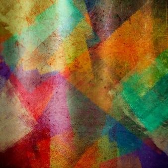 Pintura abstrata fundo colorido estilo grunge