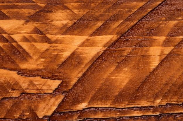 Pintura abstrata marrom madeira linha textura