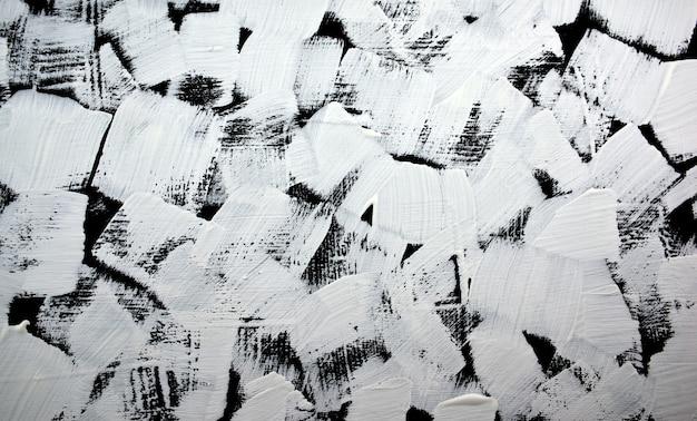 Pintura abstrata preto e branco fundo acrílico cor grunge pintado na tela feito à mão