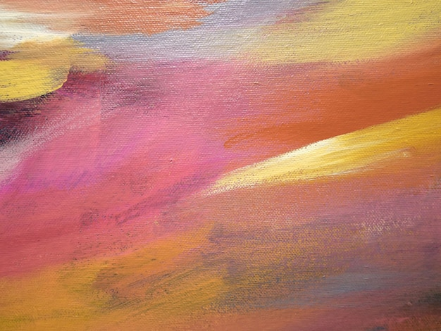 Pintura acrílica abstrata no fundo da lona.