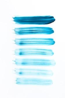 Pintura acrílica belas linhas azuis