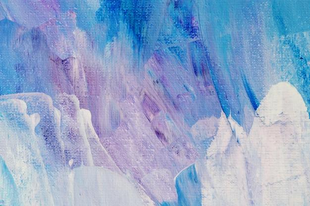 Pintura acrílica desenhada mão do fundo da arte abstrata. pinceladas textura colorida tinta acrílica